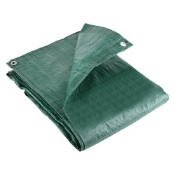 7.0M x 9.0M ECONOMY GREEN WATERPROOF TARPAULIN SHEET TARP COVER WITH EYELETS